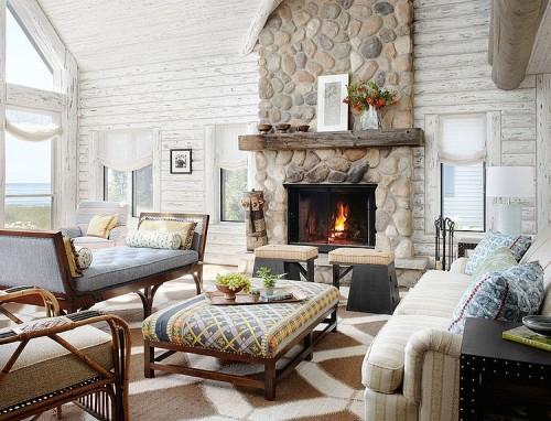 Классический камин – сердце гостиной