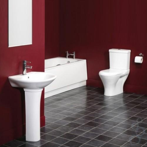 Черный и красный в ванной
