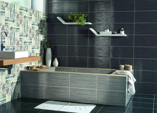Дизайн ванной в черных тонах