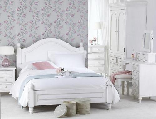 дизайн спальни в белом