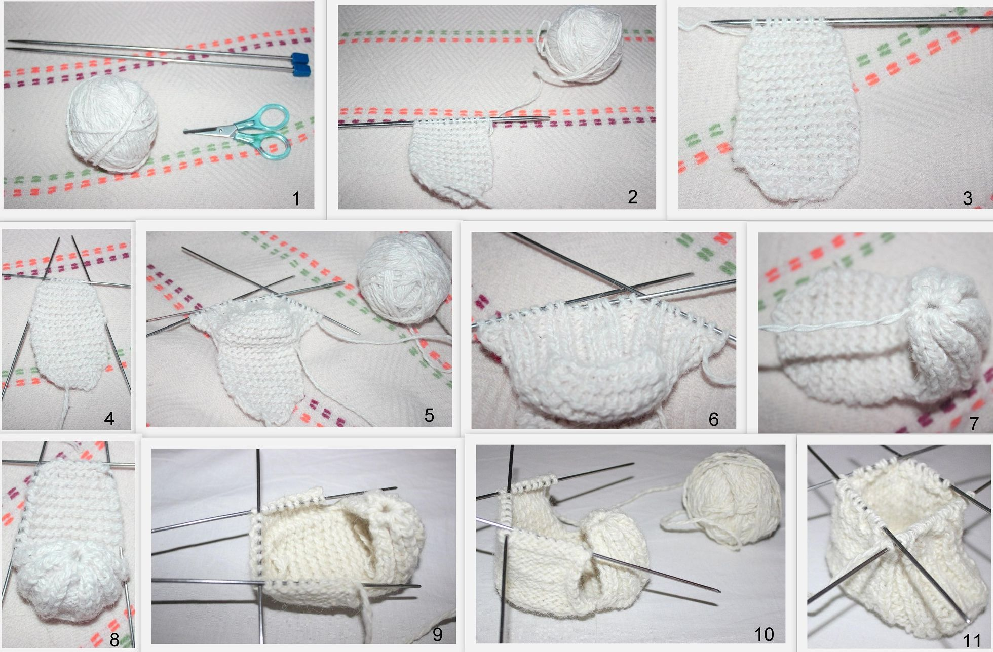Как вязать пинетки спицами. схемы