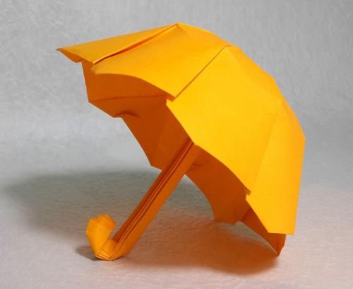 Зонтик в простой технике из одного листа