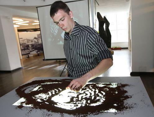 Соревнование по созданию кофейных картин