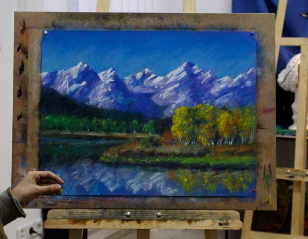 Техника рисования пастелью