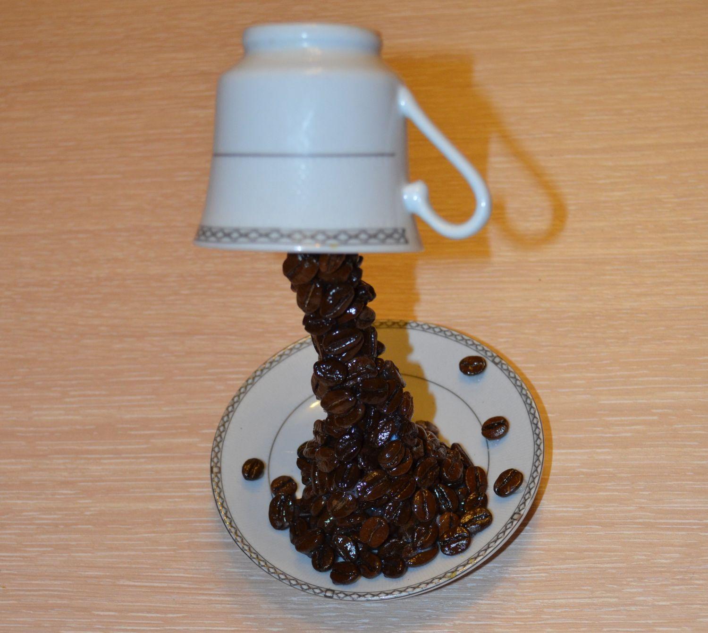 Как сделать кофейную чашку с кофейными зернами 777