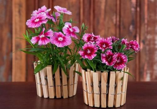 Как своими руками украсить цветочный горшок фото
