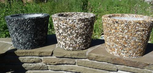 декор морскими камнями