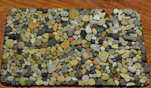 Коврик из камней фото