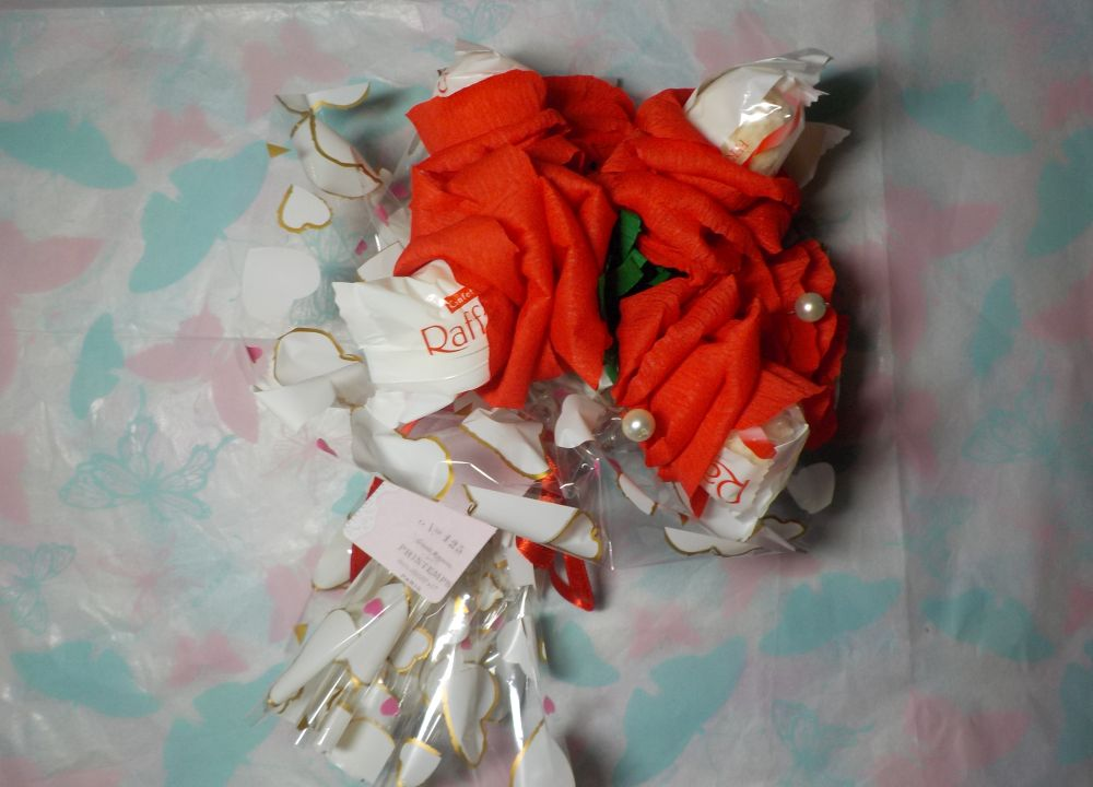 пошаговый букет из конфет рафаэлло