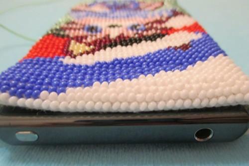 , вязаный чехол для смартфона крючком