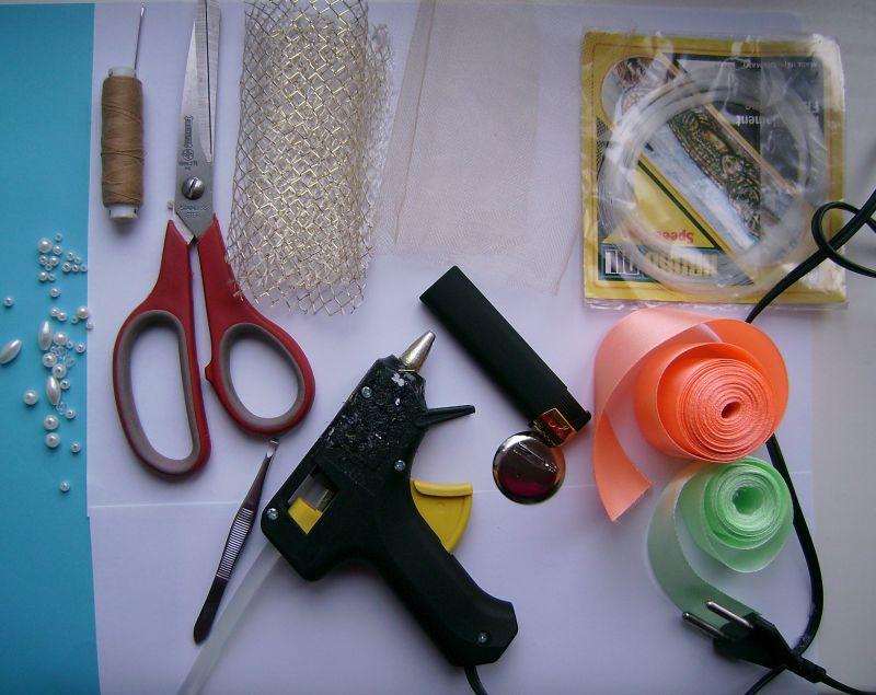 Мастер класс по изготовлению броши из ткани фото #4