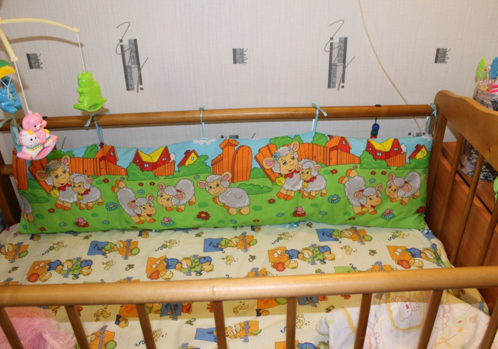 Как сшить бортик для детской кроватки мастер