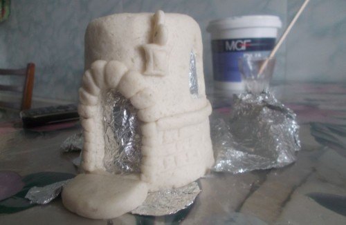 домик из соленого теста поэтапно картинки