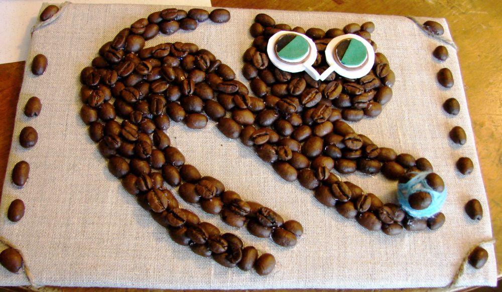 Картины из кофейных зерен своими руками 30