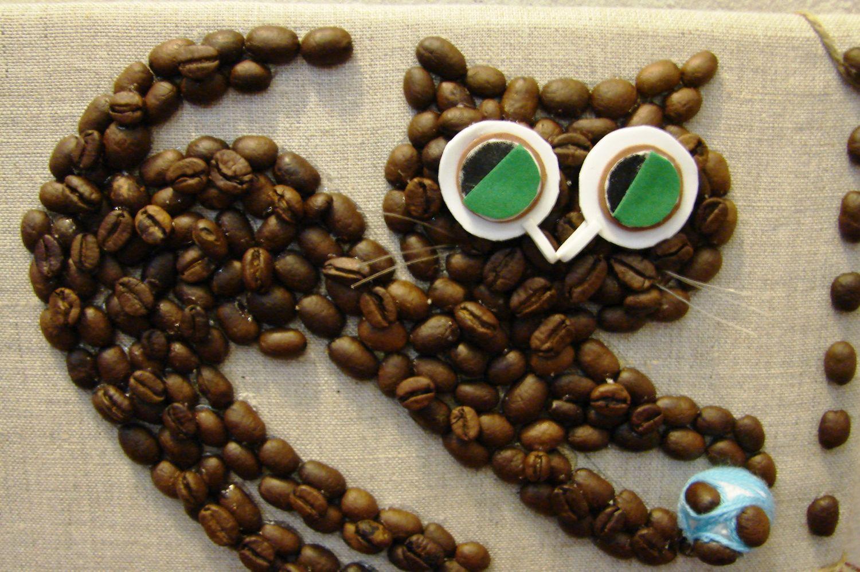 Картины из кофейных зерен пошаговое