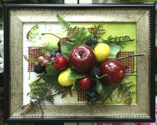 Картины из цветов и фруктов