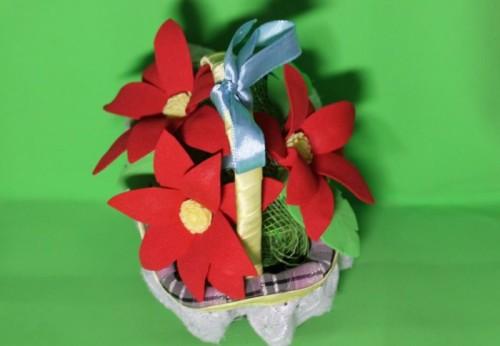 Цветы из фоамирана, работа Виктории