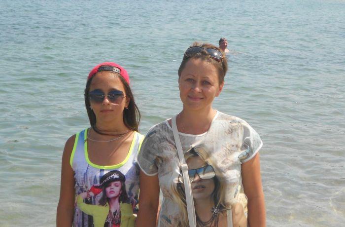 Анжела с дочерью Викторией