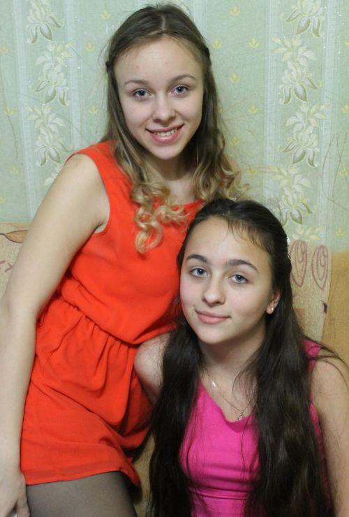 Дочери Снежана и Виктория