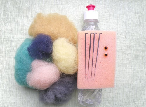 игрушки из шерсти сухое валяние мастер класс