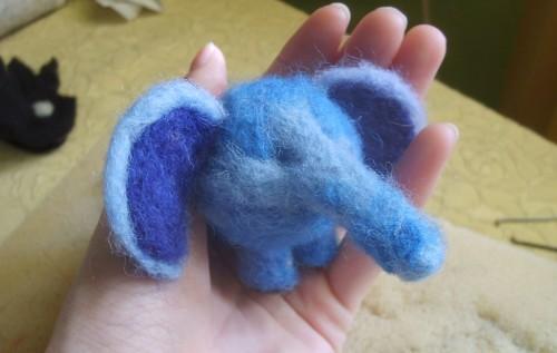 сухое валяние слоника