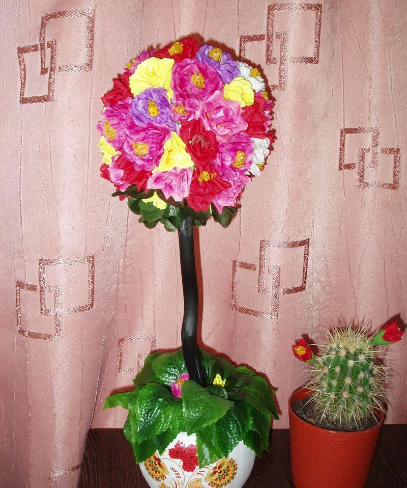 Шар из искусственных цветов купить