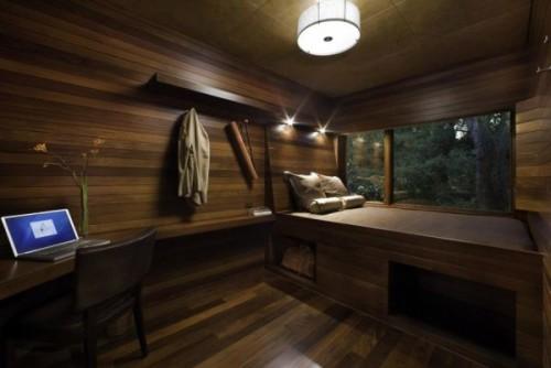 интерьер спальни коричневый