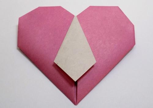 оригами в виде сердца