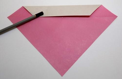 оригами сердце схема сборки
