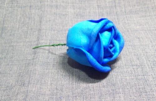 сделать цветок из пластичной замши