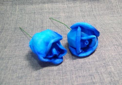 цветы из пластичной замши своими руками