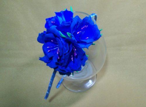 как сделать ободок с цветами из фоамирана