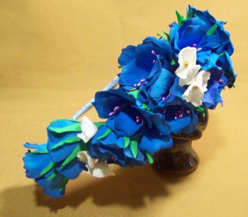 ободок с цветами из фоамирана своими руками
