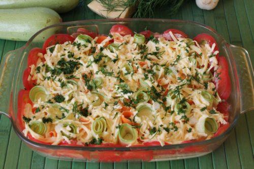 запеканка из овощей, фото