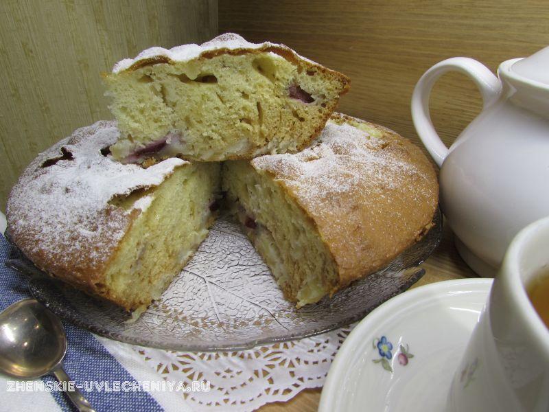 рецепт пирога сливами фото