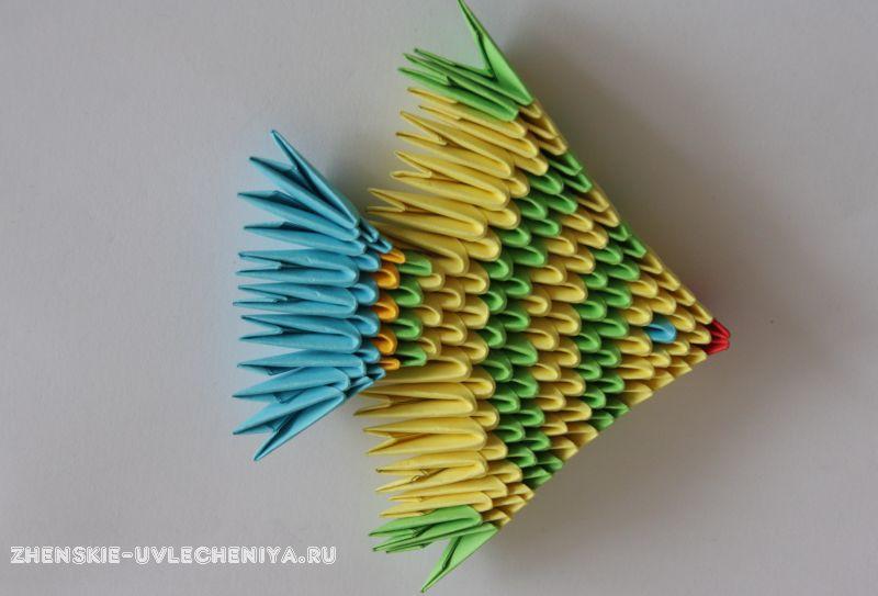 Оригами из треугольных модулей схема фото 892
