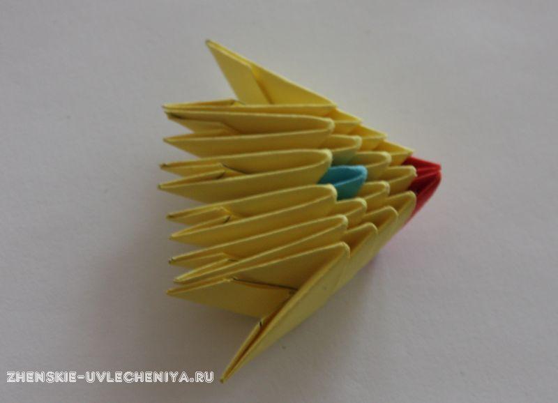 Схема сборки оригами модульной рыбка