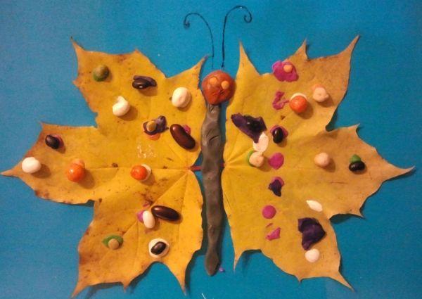 Легкие поделки из листьев своими руками фото