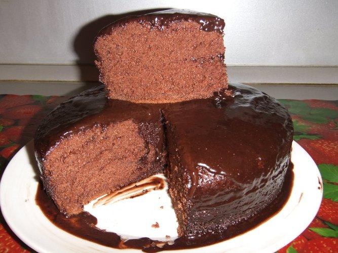 Шоколадный пирог в мультиварке рецепты с фото пошагово