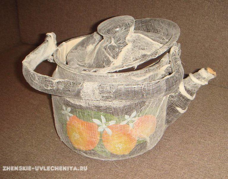 Старый чайник поделки 17