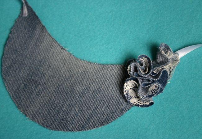 Колье из джинсы своими руками мастер класс 33