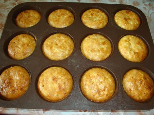 Кексы с сыром в силиконовых формочках