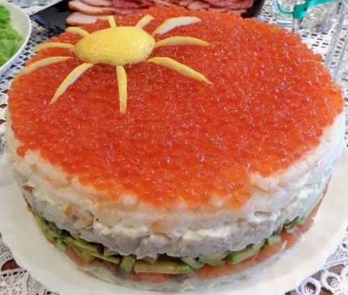 Фото торта суши