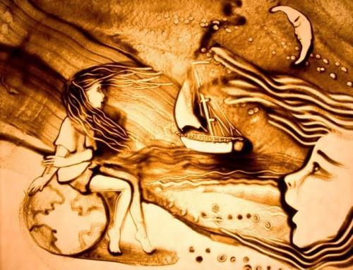 Песочная графика: техника рисования песком для новичков