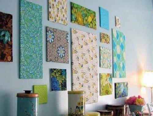 Панно из ткани для стен