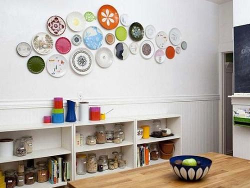 Декорирование тарелками