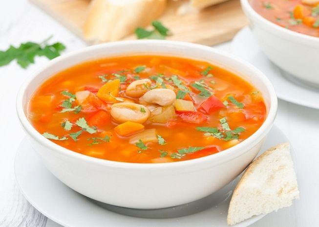Суп с грибами и фасолью консервированной