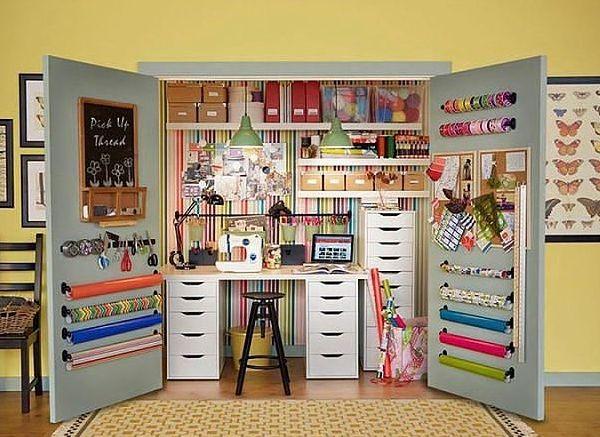 Идеи организации рабочего места рукодельницы в квартире и фото готовых решений