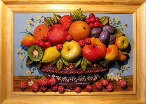Декор из фруктов