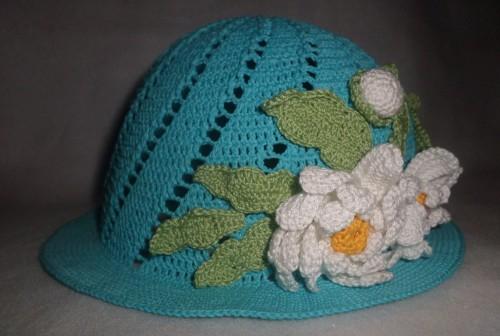 детская летняя шапочка крючком